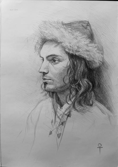 Drawn portrait tonal The portrait consider and Make
