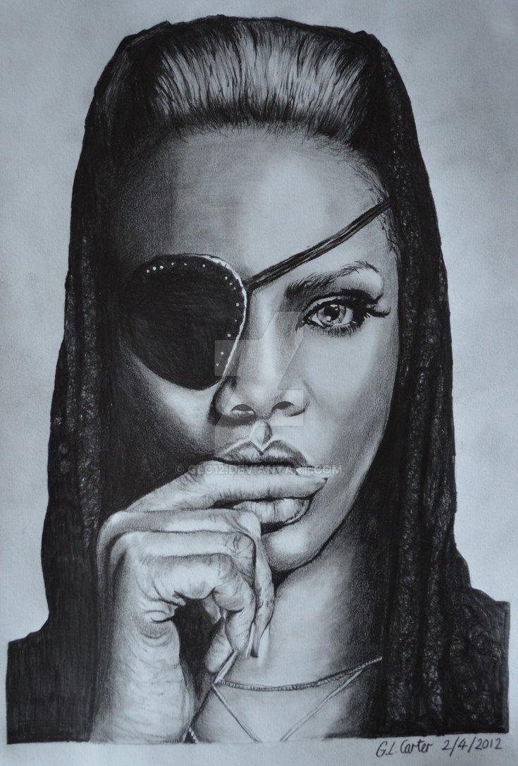 Drawn portrait tonal By Drawing by Rihanna GLC12