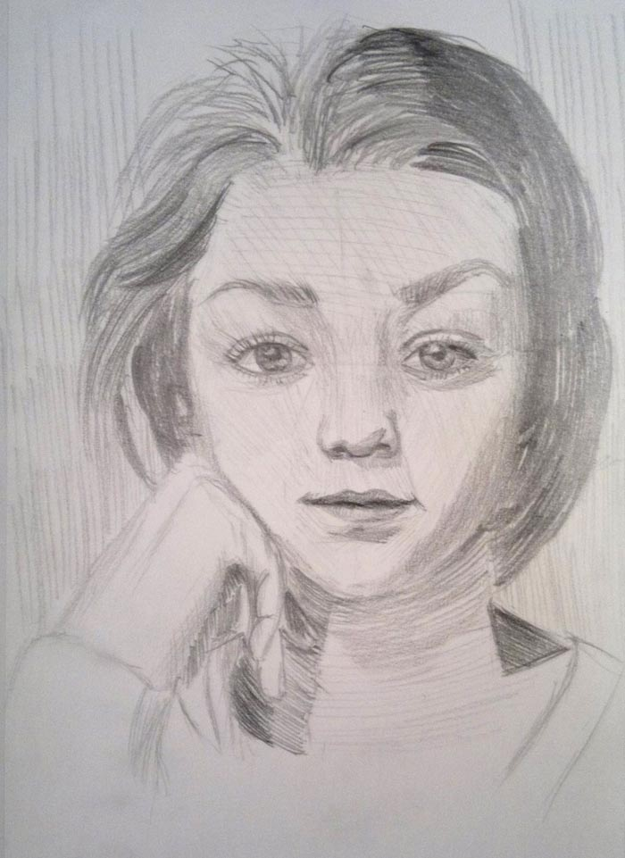 Drawn portrait tonal Drawing Academy Linear Linear Academy
