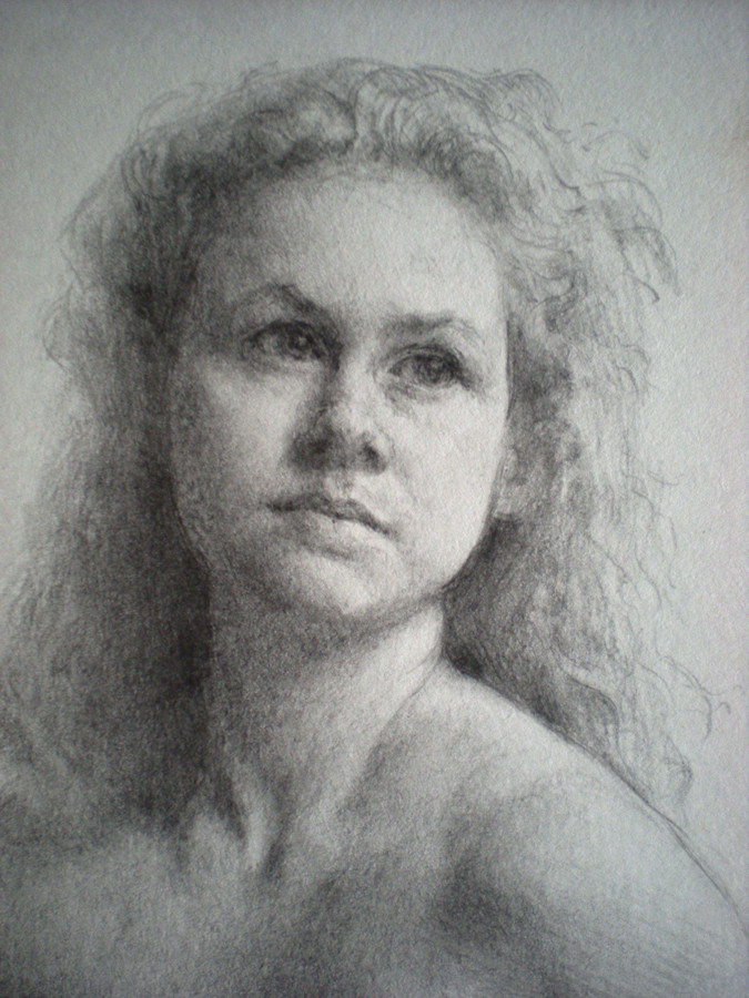 Drawn portrait traditional Jason with Art oil charcoal