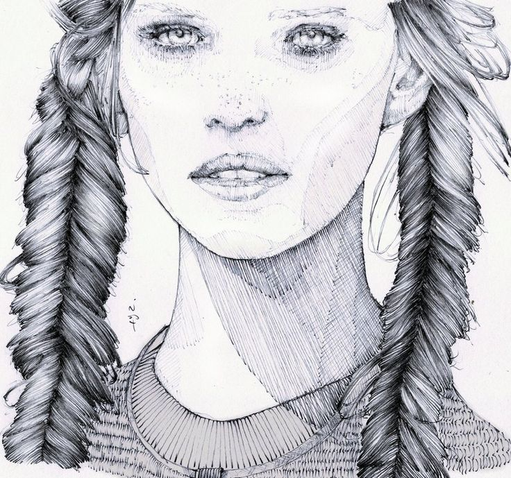 Drawn portrait traditional On best inspiration portrait Pinterest