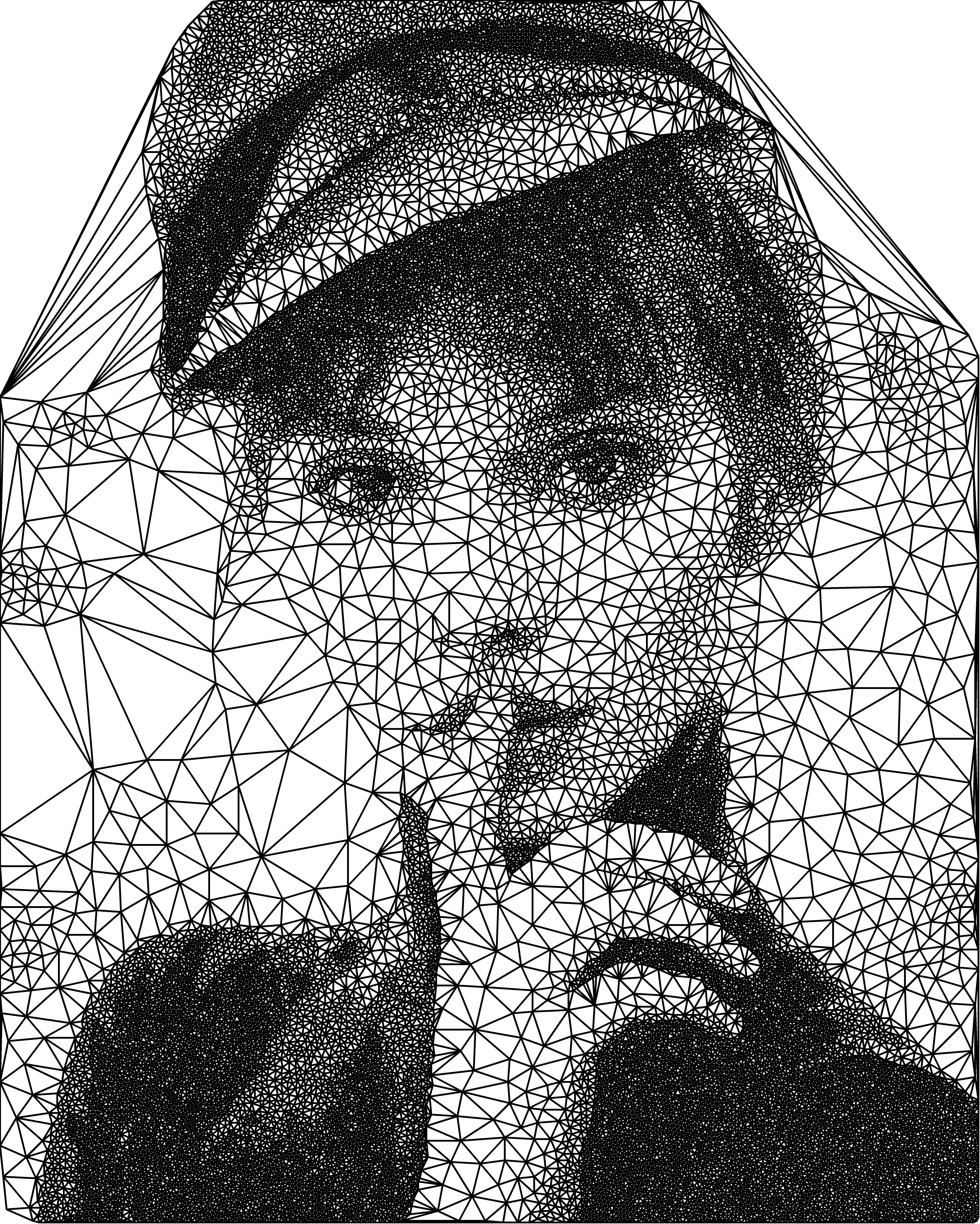 Drawn portrait triangulation Of  Imgur Different type