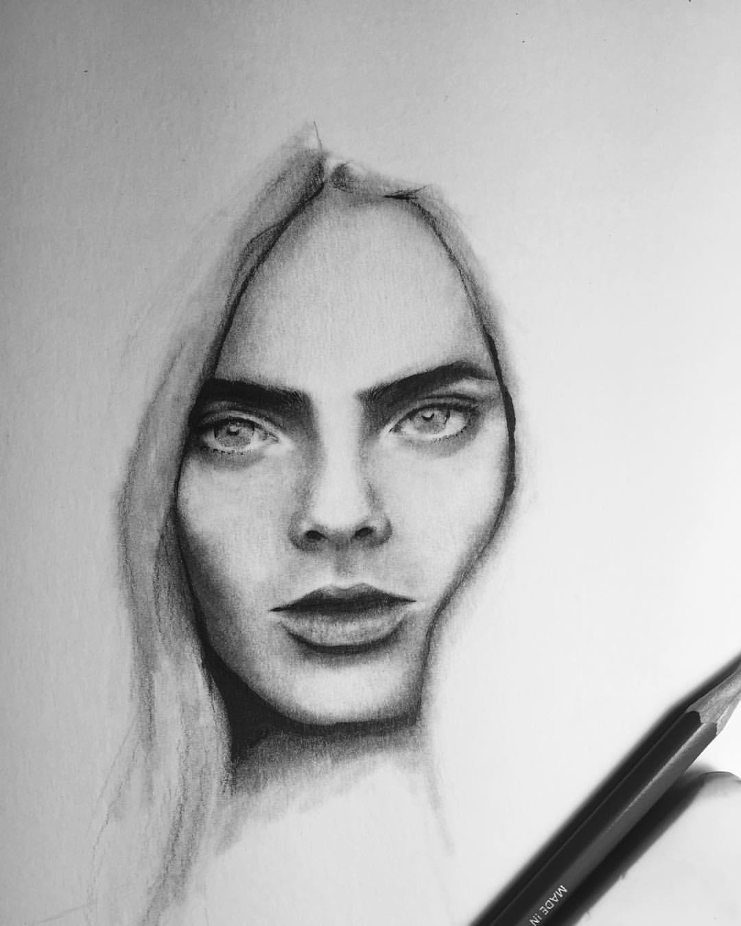 Drawn portrait tumblr drawing Cara MAOMEESAMMY portrait drawing Delevingne