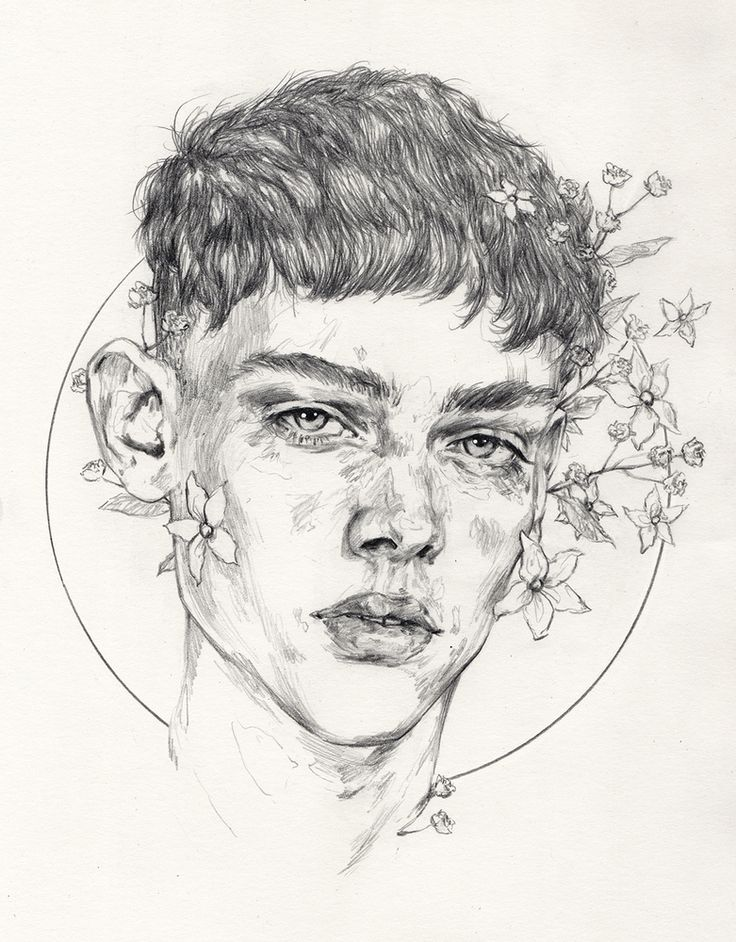 Drawn portrait tumblr drawing Tumblr Flower drawing by com