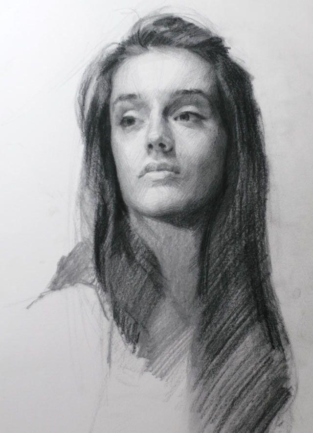 Drawn portrait unique Smith Louis Drawn 371 Pinterest