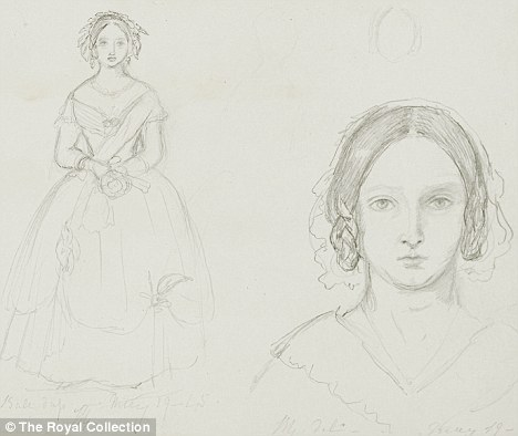 Drawn portrait victorian Picture beauty the Albert queen:
