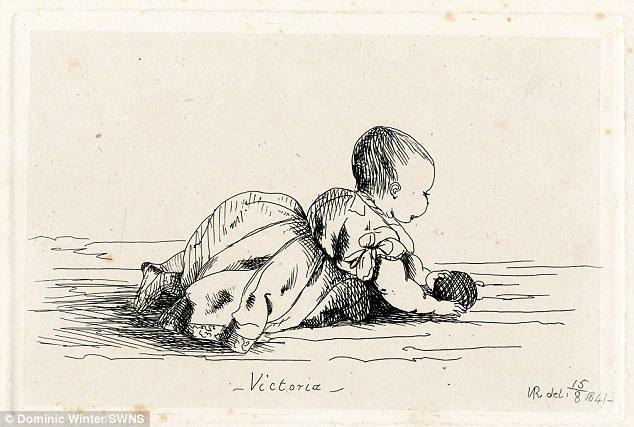 Drawn portrait victorian  Royal eldest Queen Victoria's