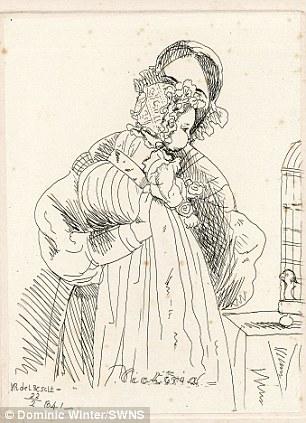 Drawn portrait victorian Known left Victoria Victoria a