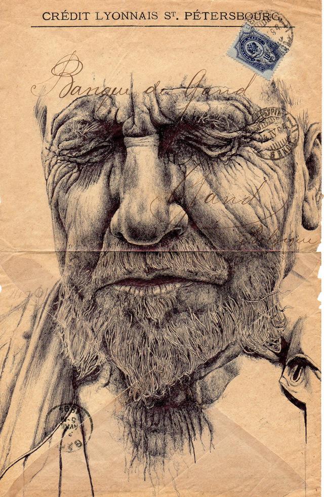 Drawn portrait vintage Envelopes by on Drawn Drawn