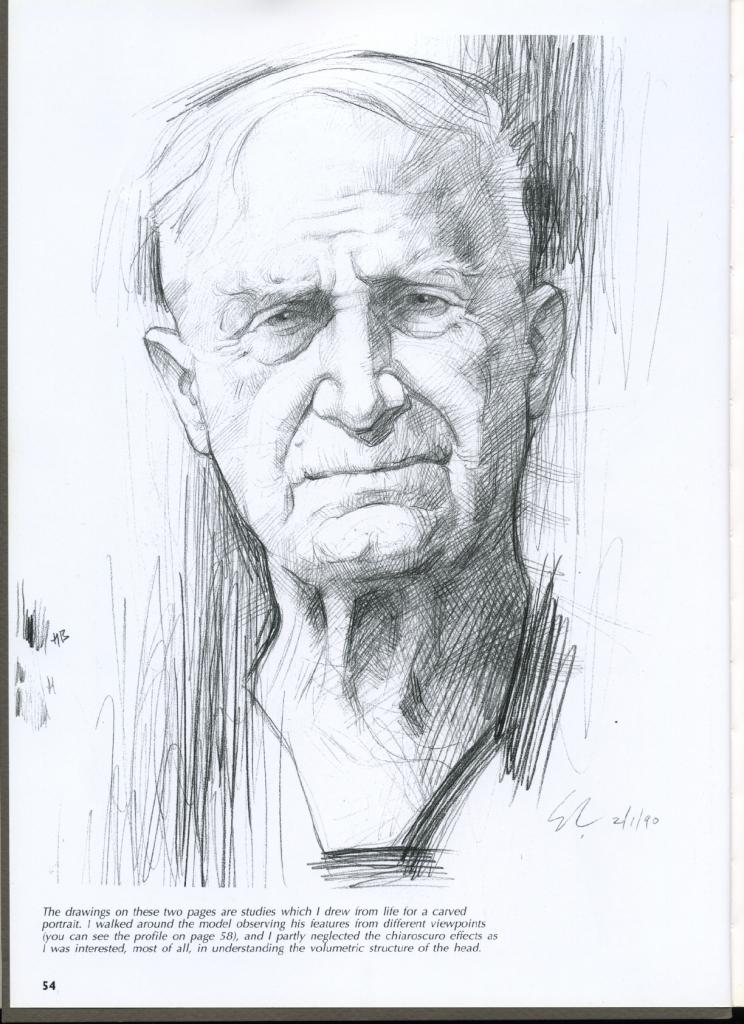 Drawn portrait volumetric And Art Faces Portraits Faces