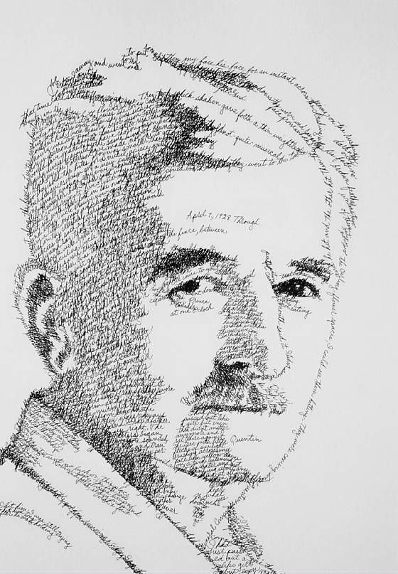 Drawn portrait word Using Ohio text images The