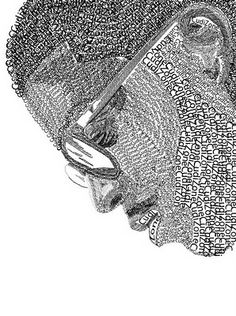 Drawn portrait word Made Portraits only  text