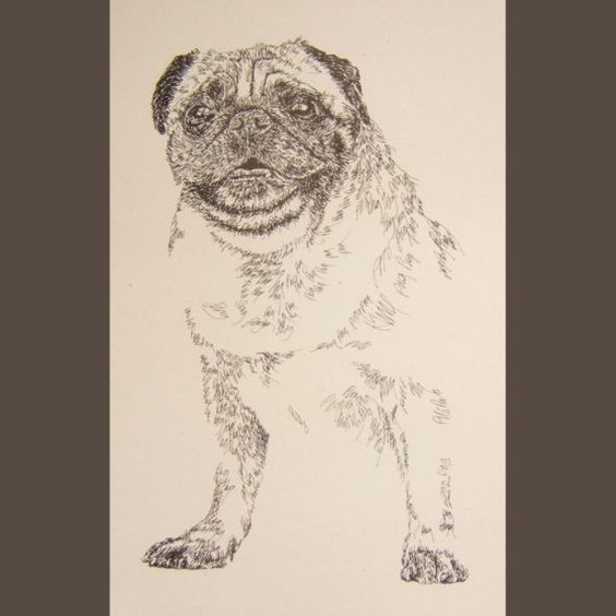 Drawn portrait word Word Your dog's name by