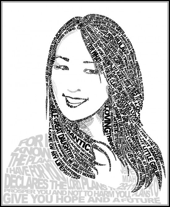 Drawn portrait word On Design Design Drawing more