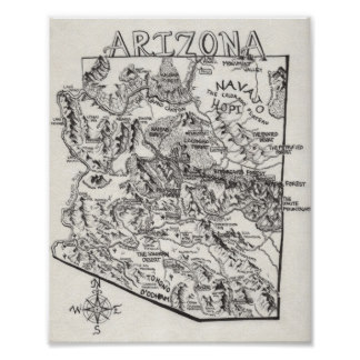 Drawn poster Map Zazzle Hand Posters Drawn