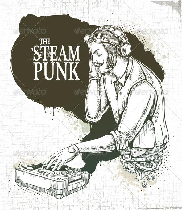 Drawn poster Steampunk poster Steampunk musical musical
