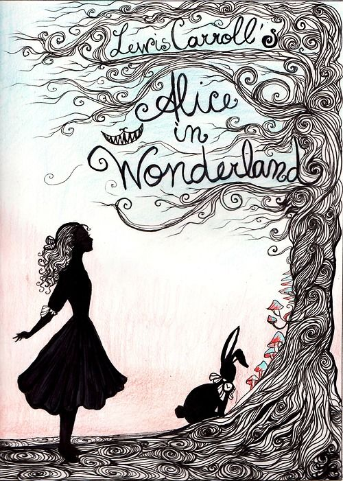 Drawn poster alice in wonderland Alice out :) cut Ok