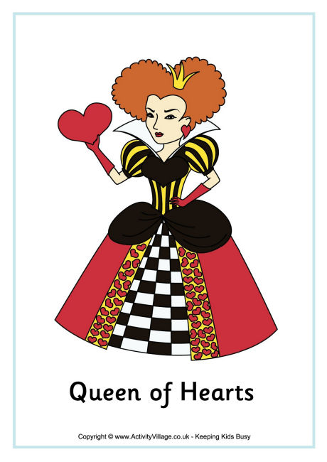 Drawn poster alice in wonderland Queen Hearts Of Learn Poster