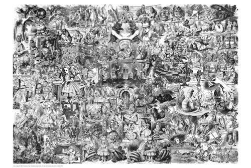 Drawn poster alice in wonderland  in Alice Poster Wonderland
