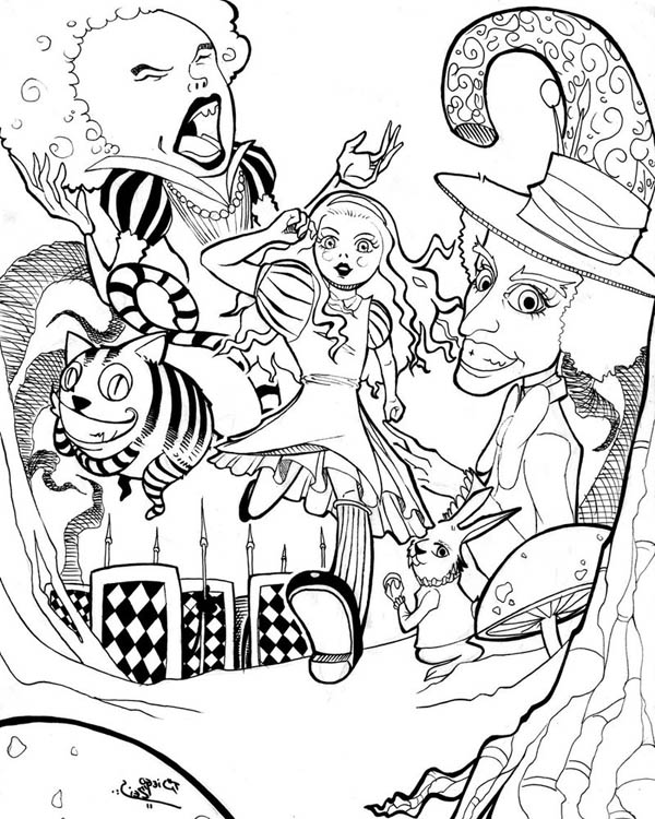 Drawn poster alice in wonderland Alice Download  Wonderland &