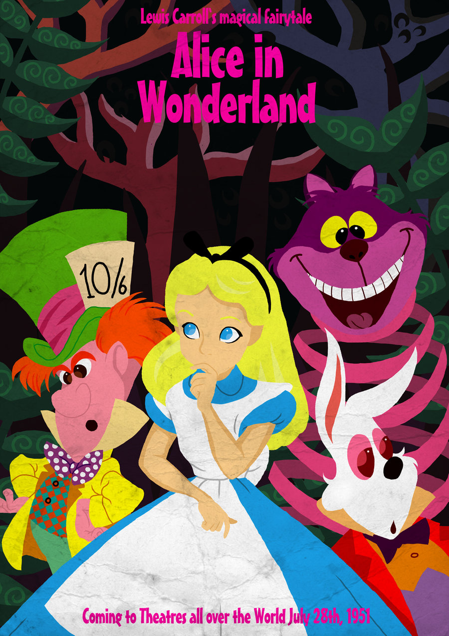 Drawn poster alice in wonderland By Thought by Happy