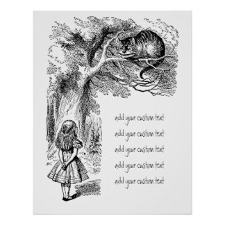 Drawn poster alice in wonderland Vintage in Posters Alice Zazzle
