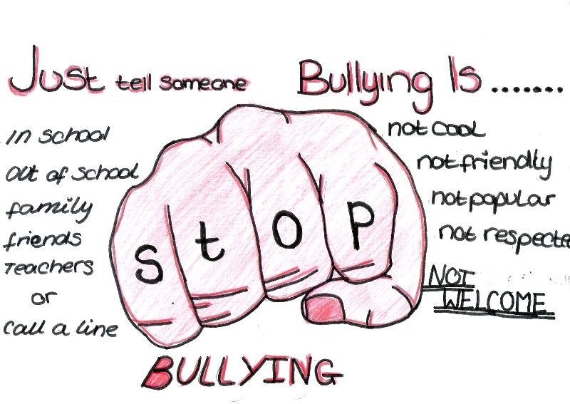 Drawn poster anti bullying Bullying