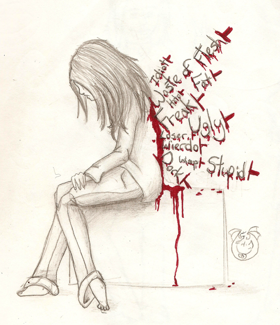 Drawn poster anti bullying RISE Sunday PROJECT: by YOU
