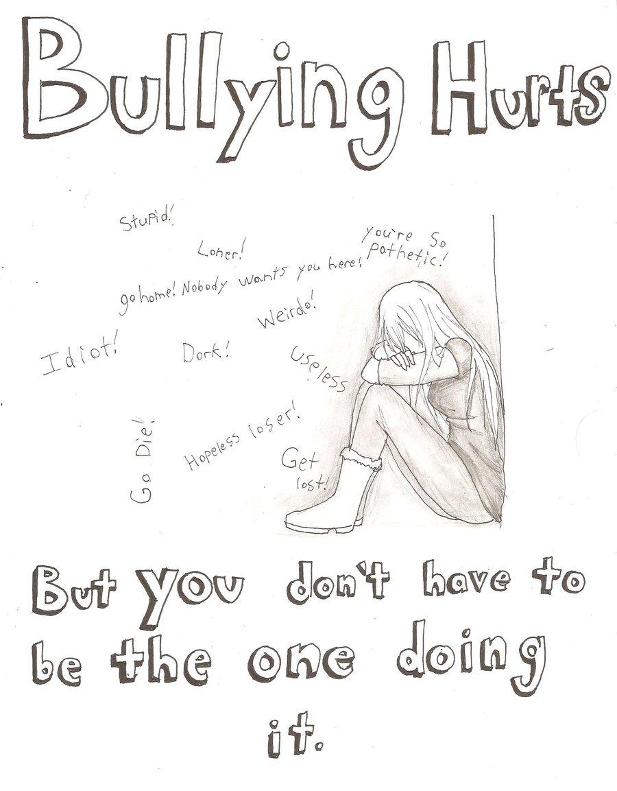 Drawn poster anti bullying By Bullying kurumi13 Poster on