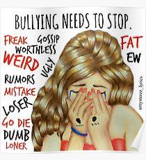 Drawn poster anti bullying Posters Stop Redbubble Bullying Anti