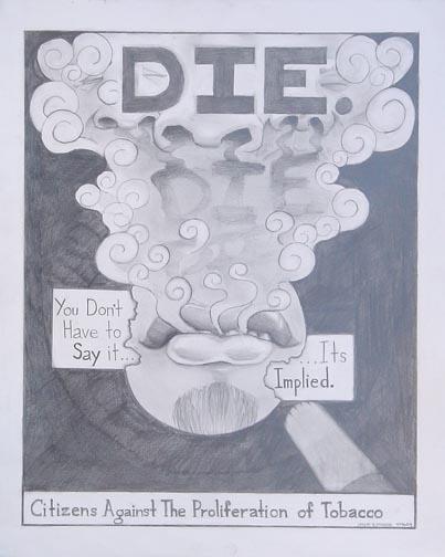 Drawn poster anti smoking Anti jpg Illustration Smoking Poster