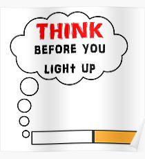 Drawn poster anti smoking Drawing: Think Smoking Redbubble Poster