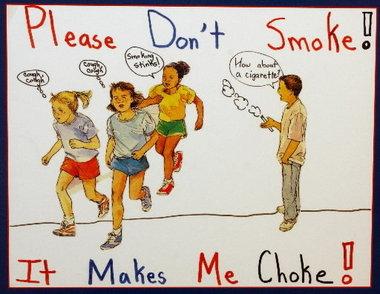 Drawn poster anti smoking – Competition Teens Tobacco Making