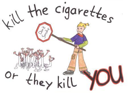 Drawn poster anti smoking  Posters Anti Smoking