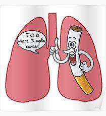 Drawn poster anti smoking Redbubble Cigarette Posters Smoking Poster