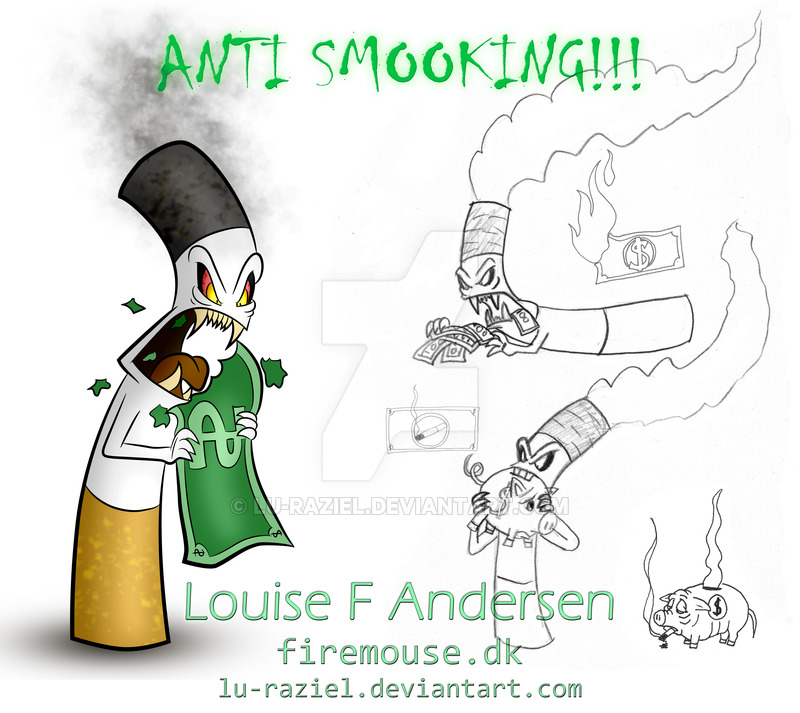 Drawn poster anti smoking Lu DeviantArt Anti by on