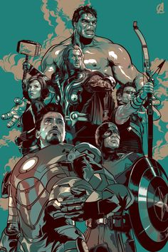 Drawn poster avenger Art a used theme it