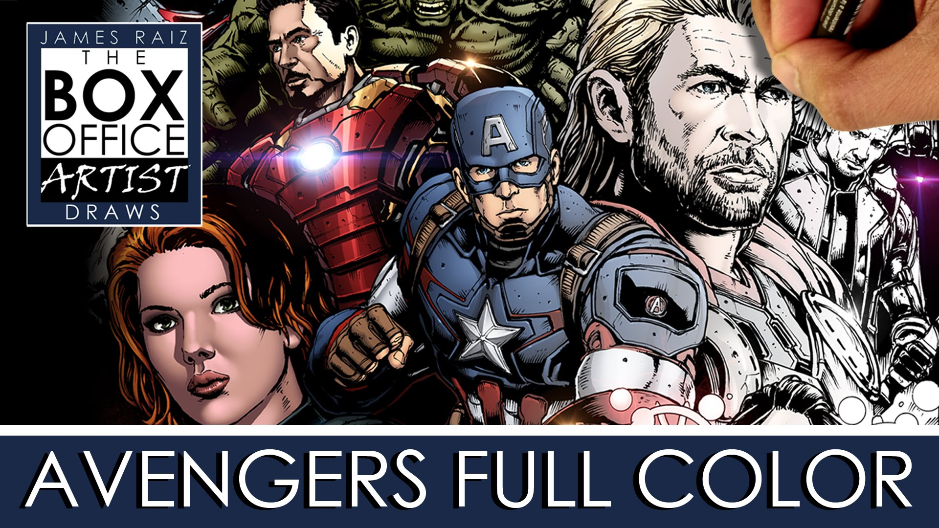 Drawn poster avenger COLOR AVENGERS: COLOR DRAWING FULL