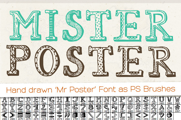 Drawn poster creative Drawn Creative Fonts Hand drawn