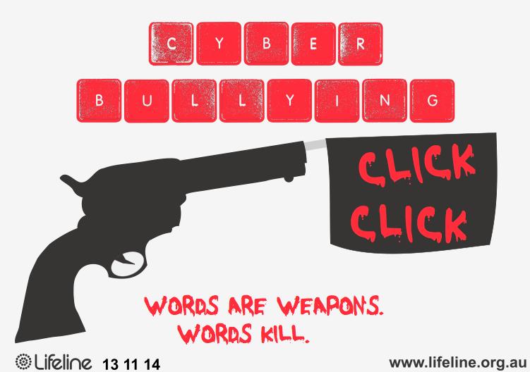 Drawn poster cyberbullying Portfolio Design Picture T Social