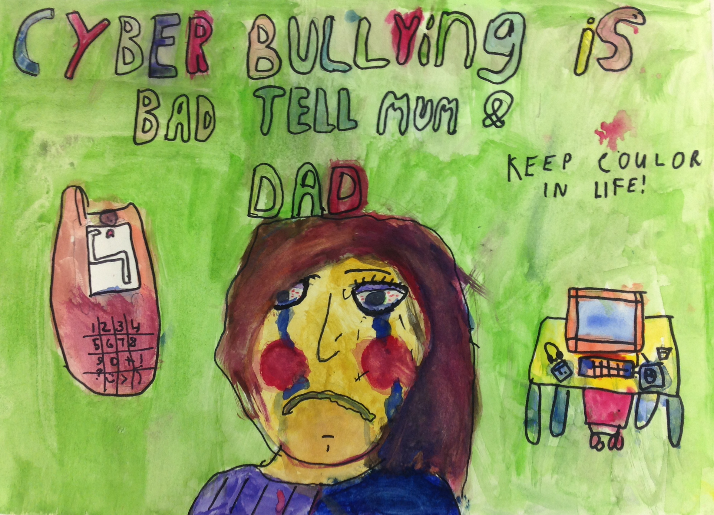Drawn poster cyberbullying So learn about 2015 the