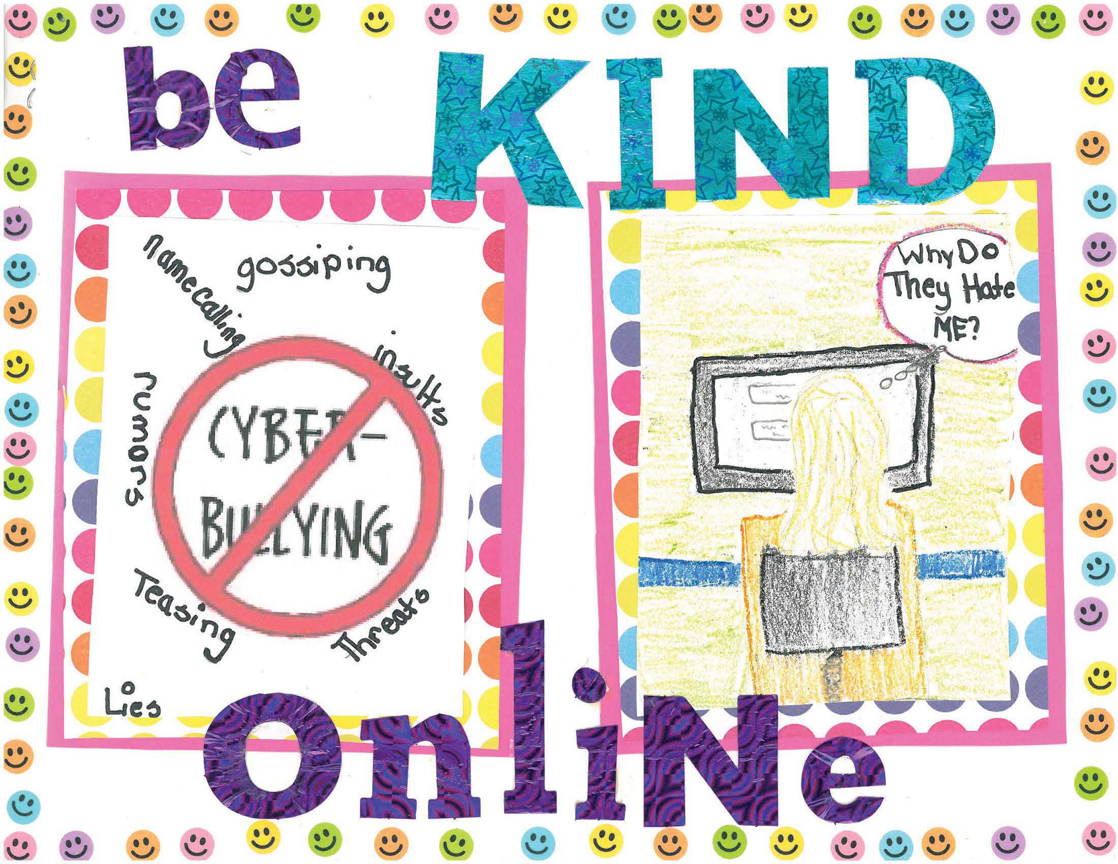 Drawn poster cyberbullying Cyberbullying Poster: on best Cyberbullying