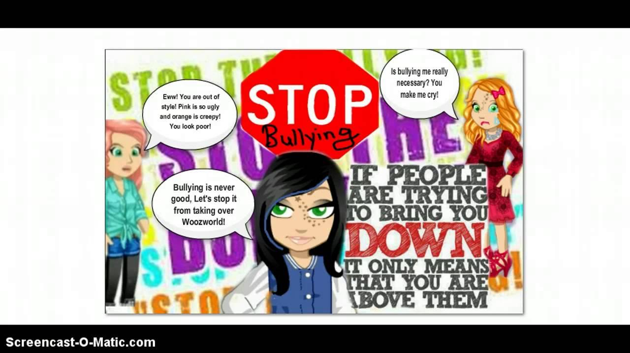 Drawn poster cyberbullying Woozworld  Bullying posters YouTube