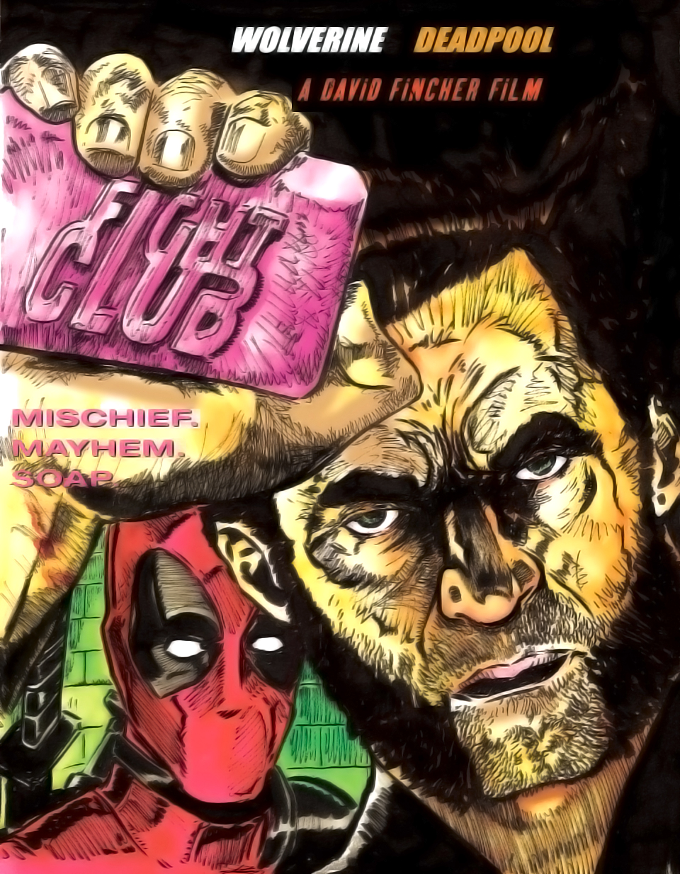 Drawn poster deadpool It Club Movie is Poster