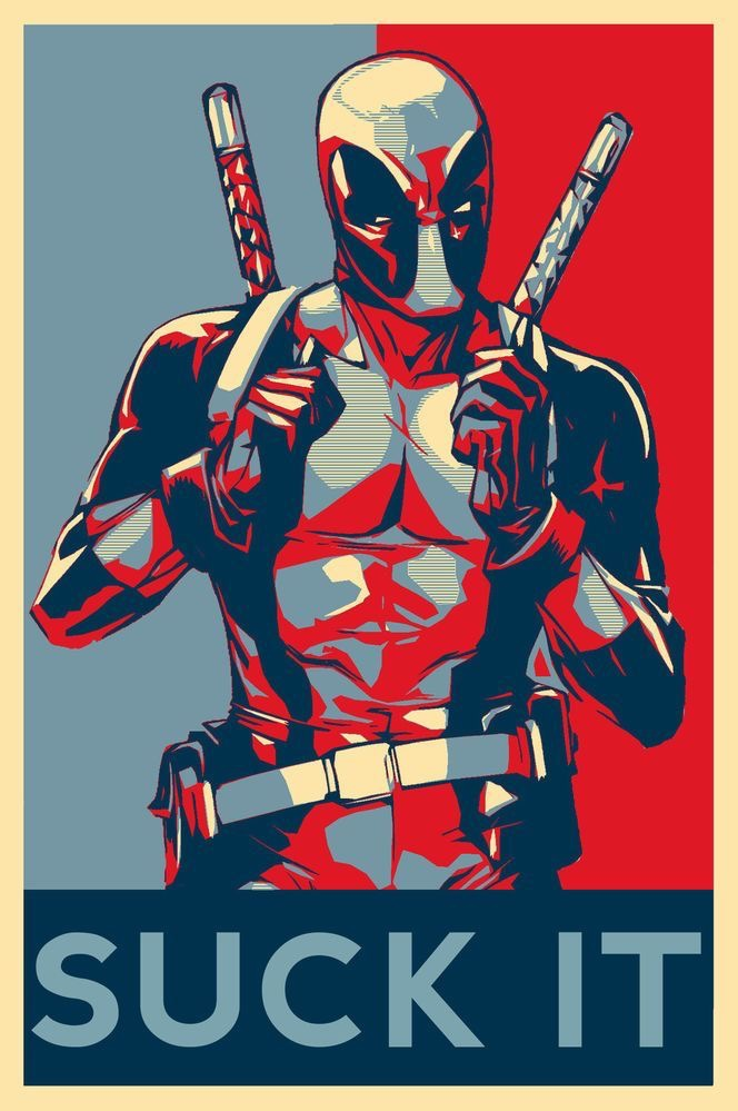 Drawn poster deadpool Deadpool es presidente Marvel