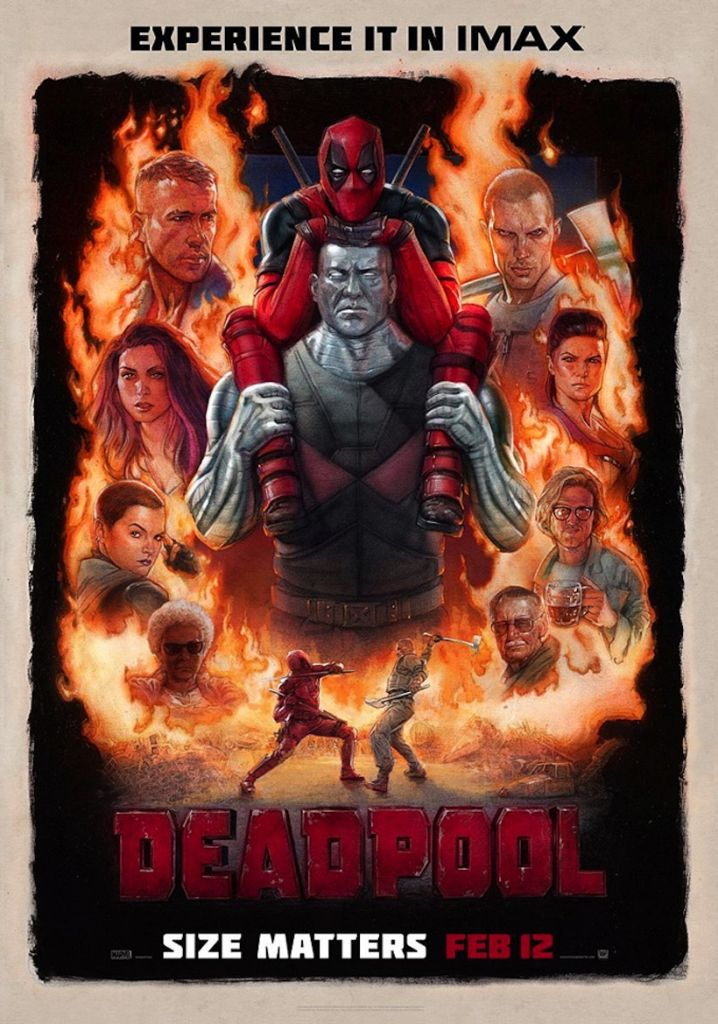 Drawn poster deadpool New in that teaser his