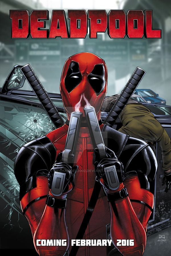 Drawn poster deadpool On Poster Deadpool Official on