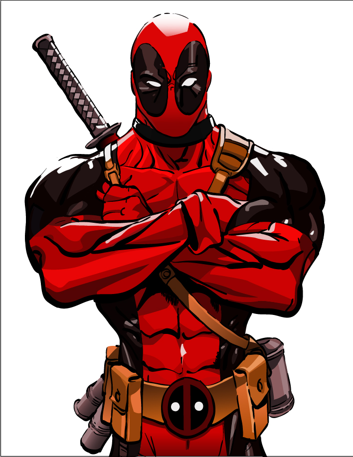 Drawn poster deadpool Jok3rCraz3d by Jok3rCraz3d on Deadpool