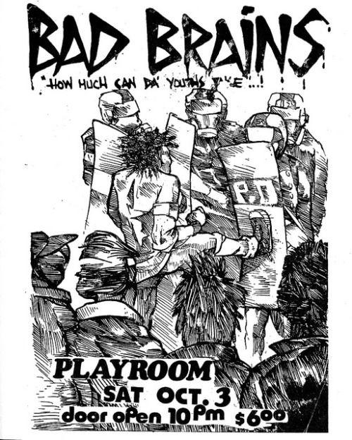 Drawn poster diy punk And UNI: Band on Punk