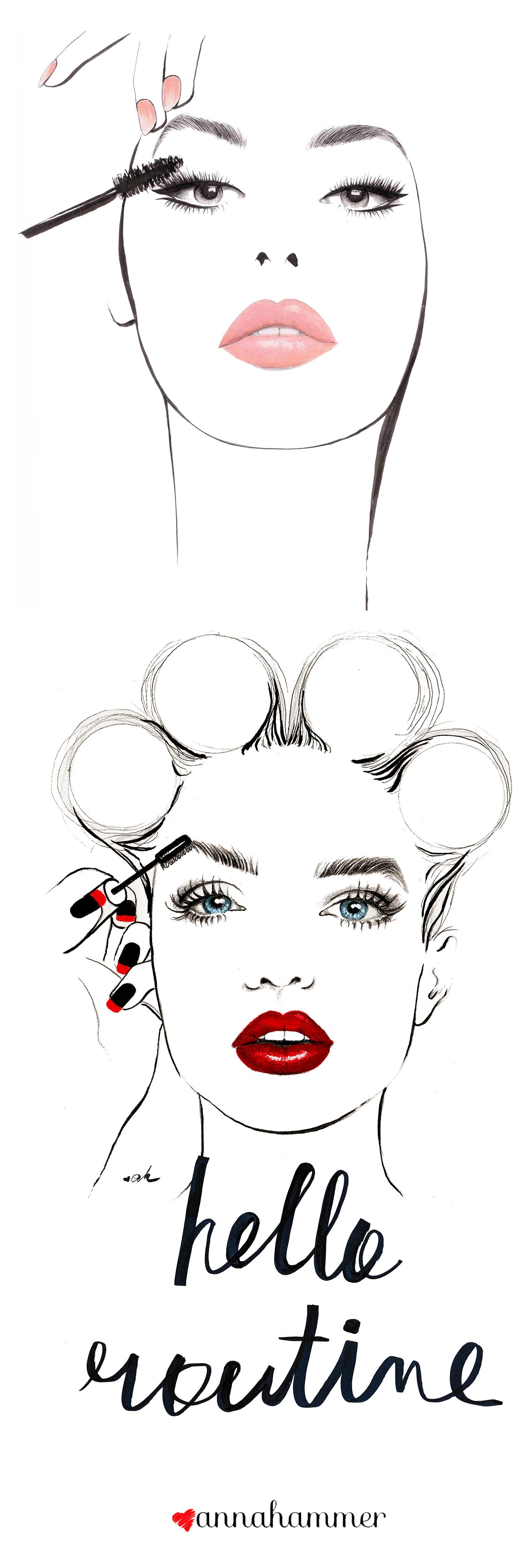 Drawn makeup Fashion Illustration  Fashion Illustrations
